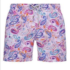 Bluemint Arthur Paisley Swim Trunks Bathing Shorts